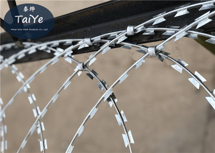 Industrial Popular Flat Wrap Razor Wire Weatherproof Prison Wire Fence