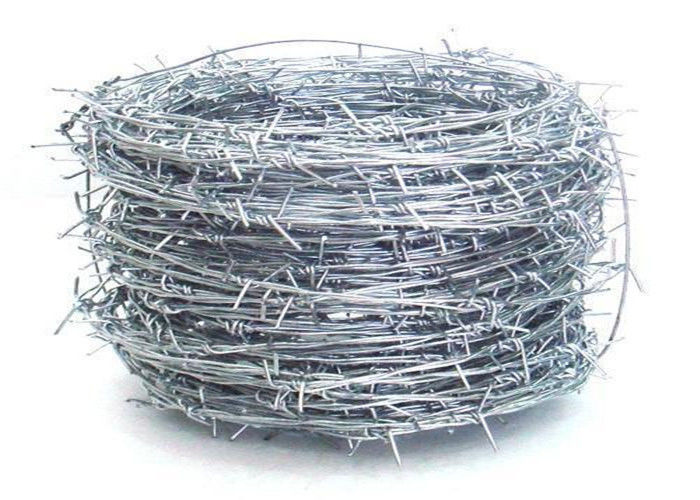 Silver Electric Galvanized Security Barbed Wire Low Carbon Steel BWG 12 14 16